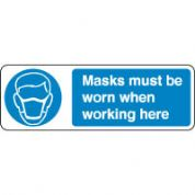 Mandatory Safety Sign - Masks Must Be Worn 110